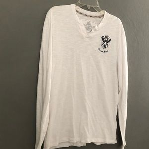 GUESS Jeans White Large T-SHIRT Long Sleeve